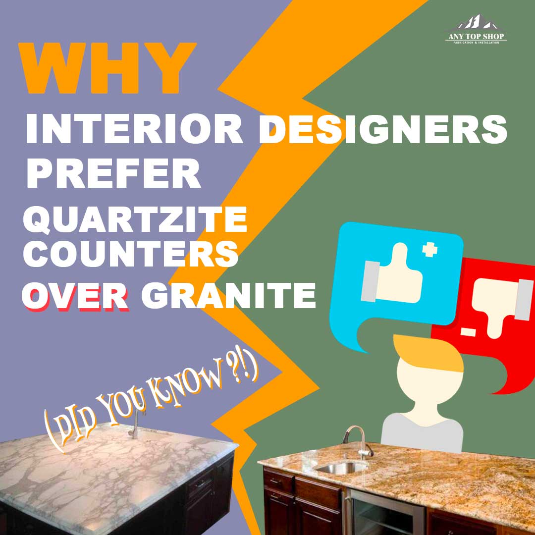 Why Interior Designers Prefer Quartzite Counters Over Granite