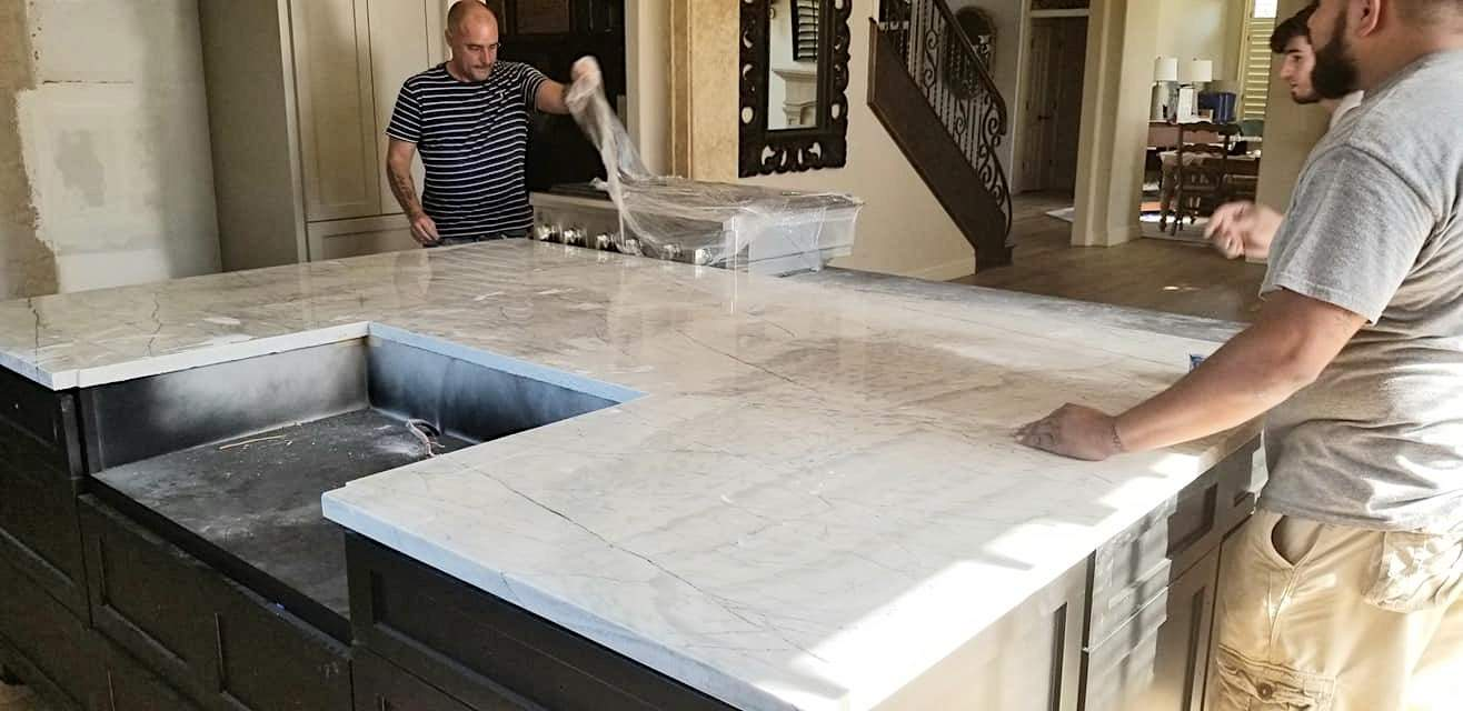 countertop install how to