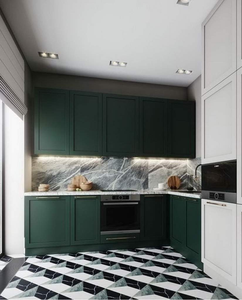 kitchen trends 2021 green color