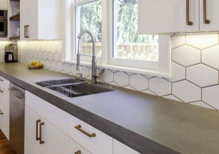 concrete countertops sustainable kitchen